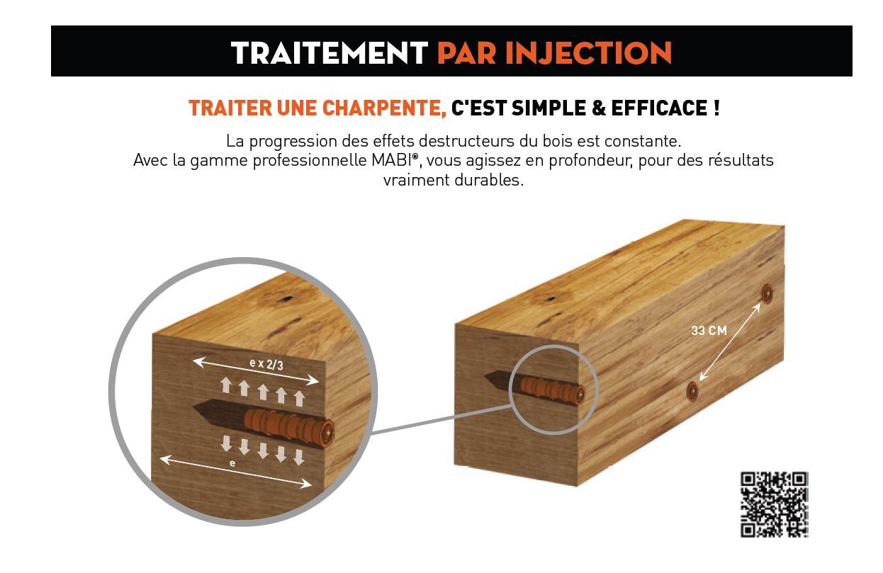 Injecteur et m che pour traitement du bois tarif moins for Traitement des poutres en bois